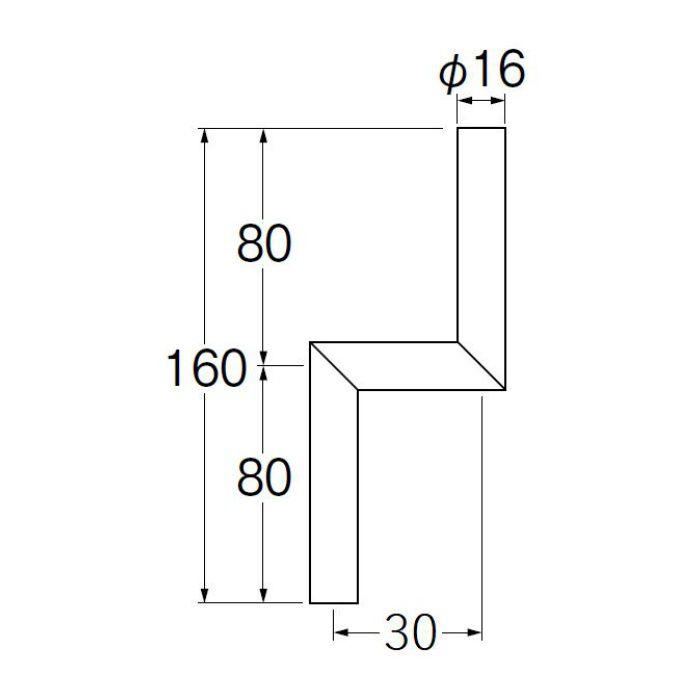 V90-65-30 小便Zパイプ 偏心寸法30mm