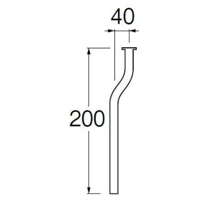 V90J-63-D ツバ付小便曲管