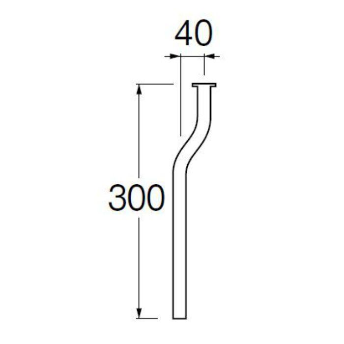 V90J-63-E ツバ付小便曲管