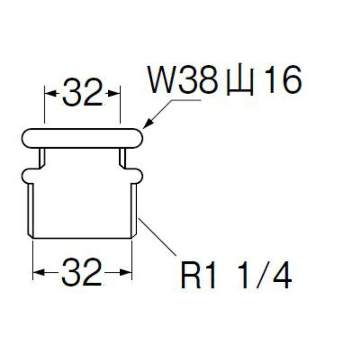 H80-30-32X32 洗浄管アダプター パイプ径32mm×32mm