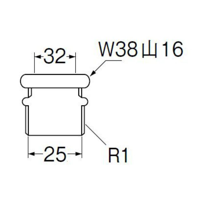 H80-300-32X25 洗浄管アダプター パイプ径32mm×ネジ径25mm