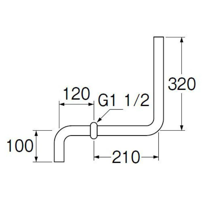 H81-B ロータンク洗浄管
