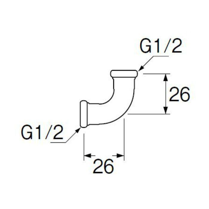 H80-4-13 洗浄管連結エルボ