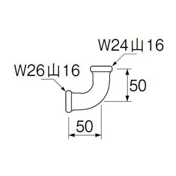 H80-4-16X19 洗浄管連結異径エルボ