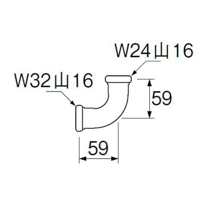 H80-4-16X25 洗浄管連結異径エルボ