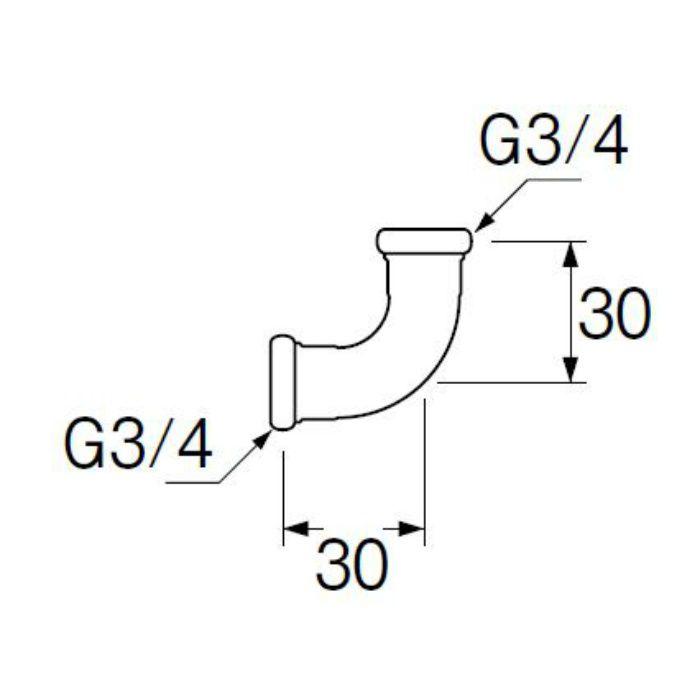 H80-4-19 洗浄管連結エルボ