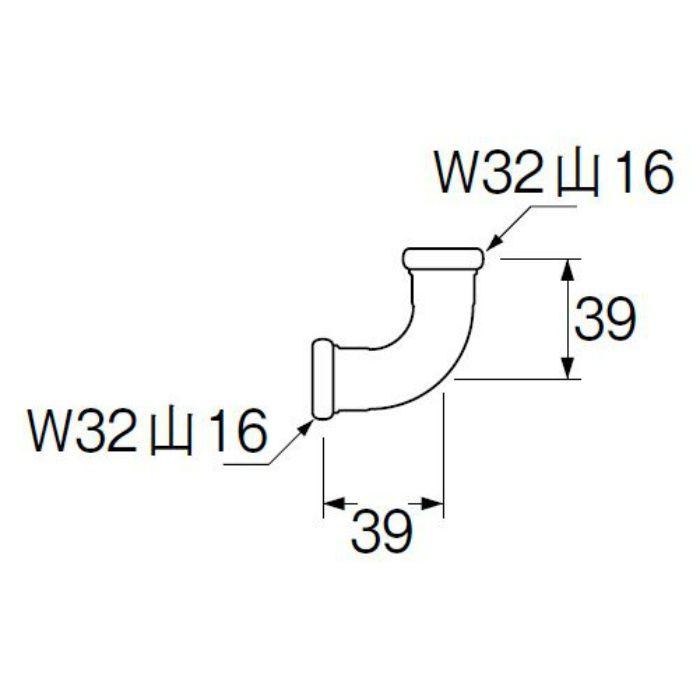 H80-4-25 洗浄管連結エルボ