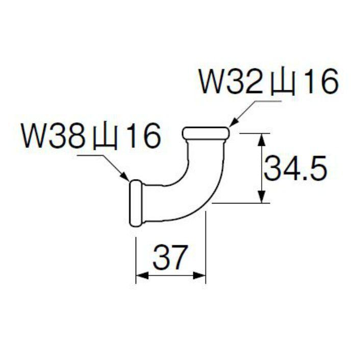 H80-4-25X32 洗浄管連結異径エルボ