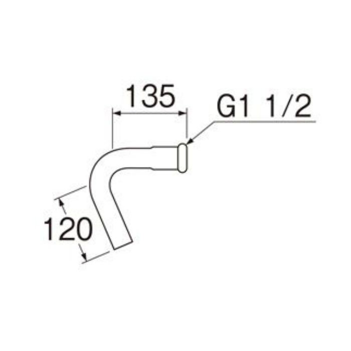 H81-1-73 73°洗浄管下部(38mm)