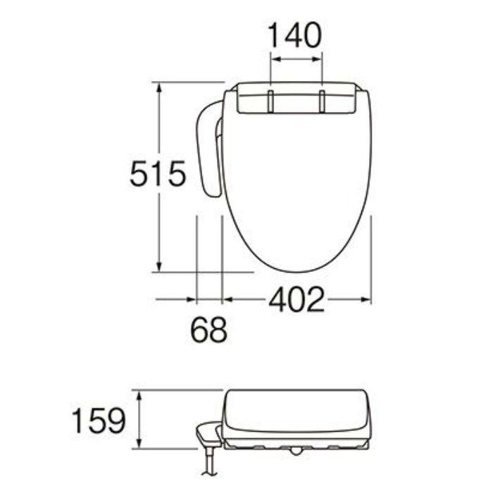 EW9003-W 温水洗浄便座 シャワンザ 脱臭機能付 ホワイト