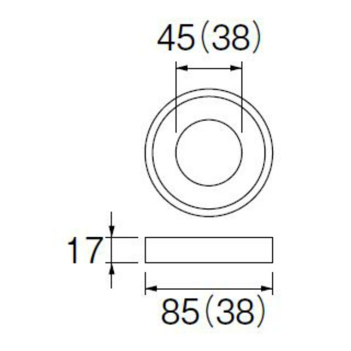 PP42-30-38 ロータンク密結パッキン 38mm用