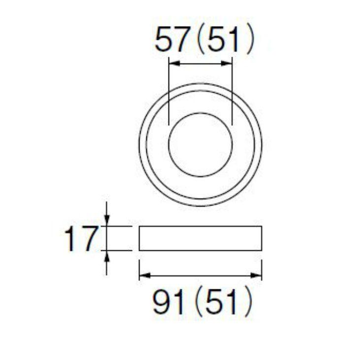 PP42-30-51 ロータンク密結パッキン 51mm用
