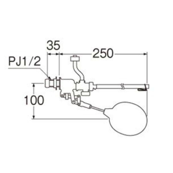 V46-6X-13 補助水管付ボールタップ