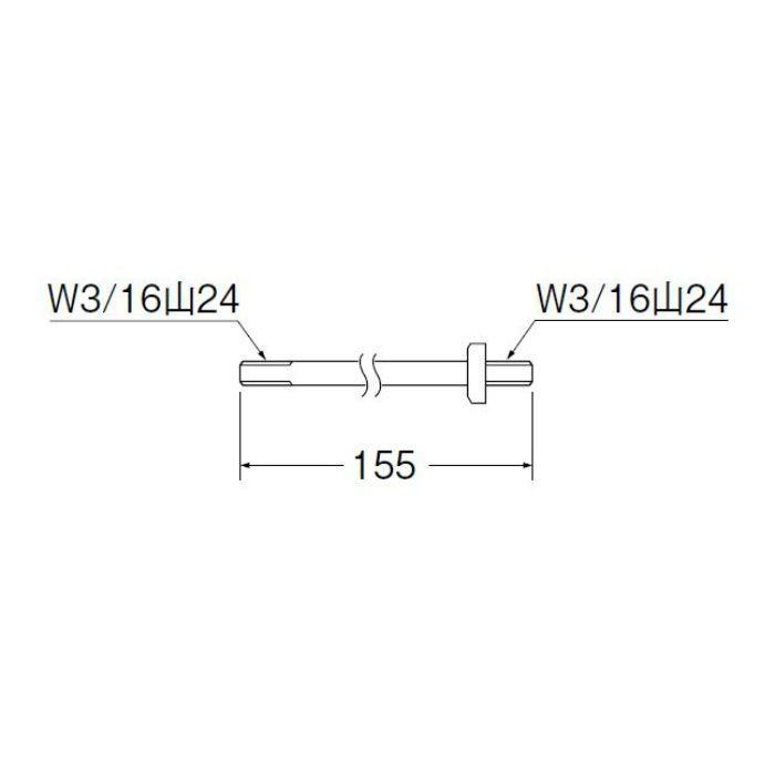 PU36-50-155 ロータンクボールタップサオ 長さ155mm
