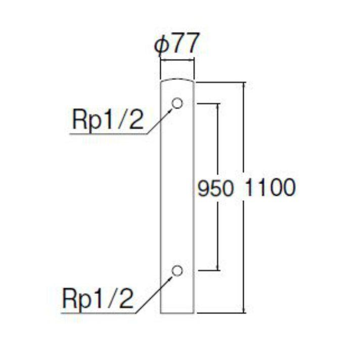 T805-76X1100 ステンレス水栓柱