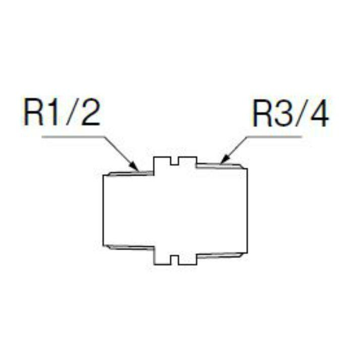 TXH205-1-20X13-ZA PC異径ニップル 樹脂製継手