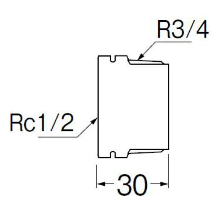 TXH750-20X13-ZA PCブッシング 樹脂製継手