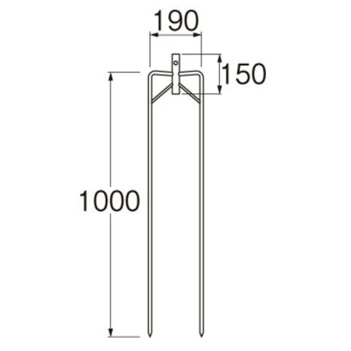 C670-2-20AX1 立上り管用支柱二脚