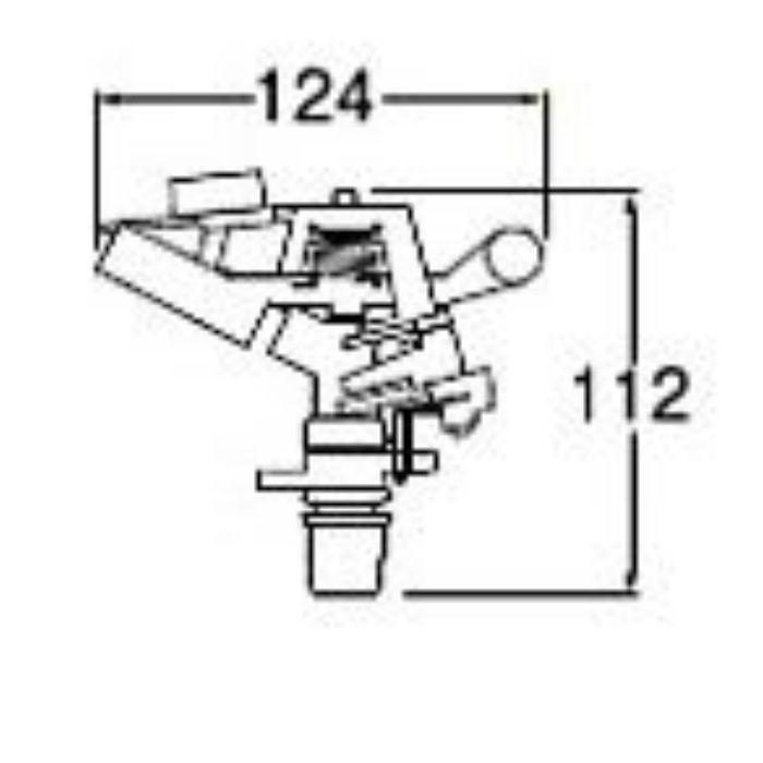 C518F-13 PCパートサークルスプリンクラー上部