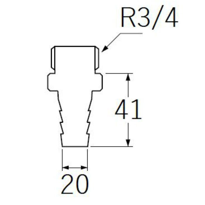 PT280-19 PCホースニップル