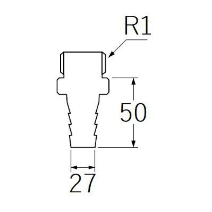 PT280-25 PCホースニップル