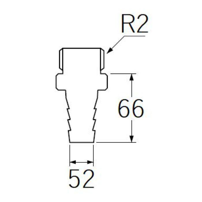 PT280-50 PCホースニップル
