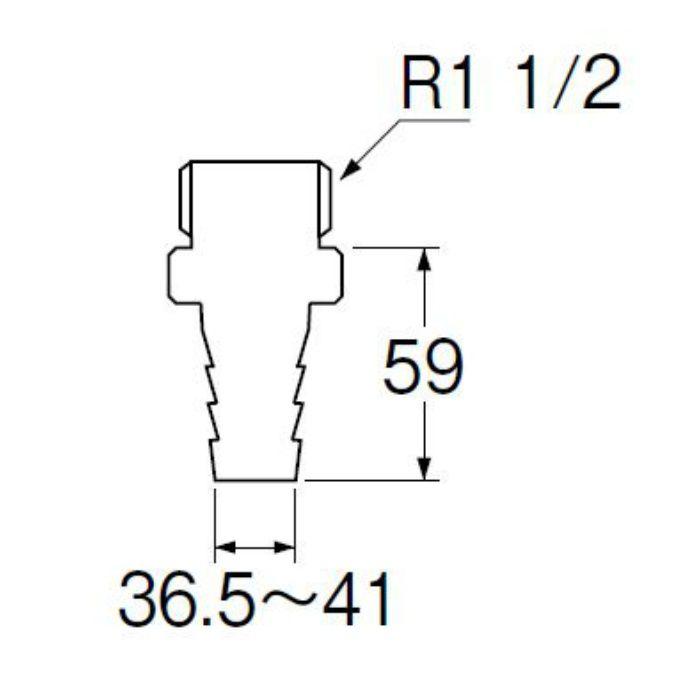 T280-38 PCホースニップル