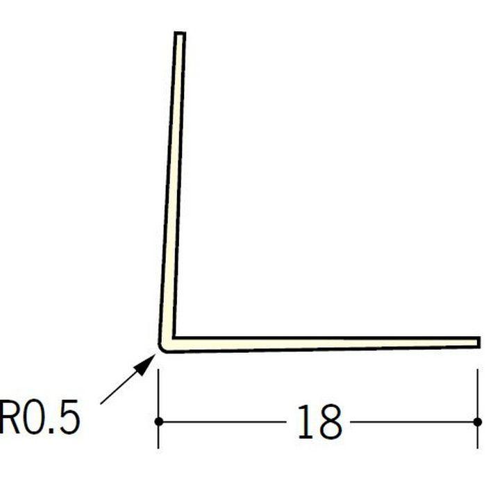 ペンキ・クロス下地材 出隅 ビニール L型コーナー18 ミルキー 2.5m  01013-1