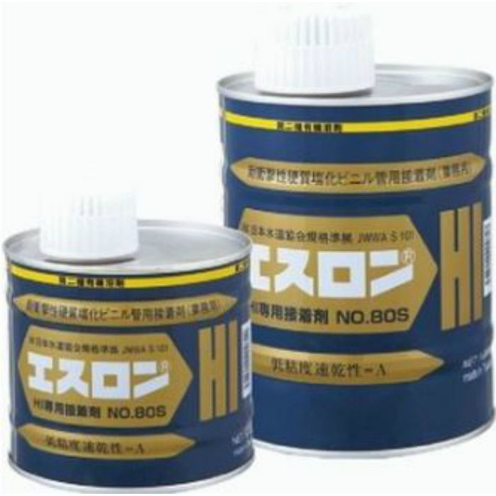 HIボンド 塩ビ接着剤 No.80S  【HI-PVC用 色:透明】 500G
