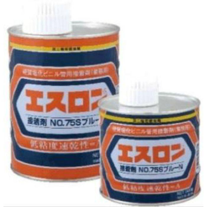 エンビボンドブル-N 塩ビ接着剤 No.75S 【低粘度 PVC 小口径用 色:青】 500G