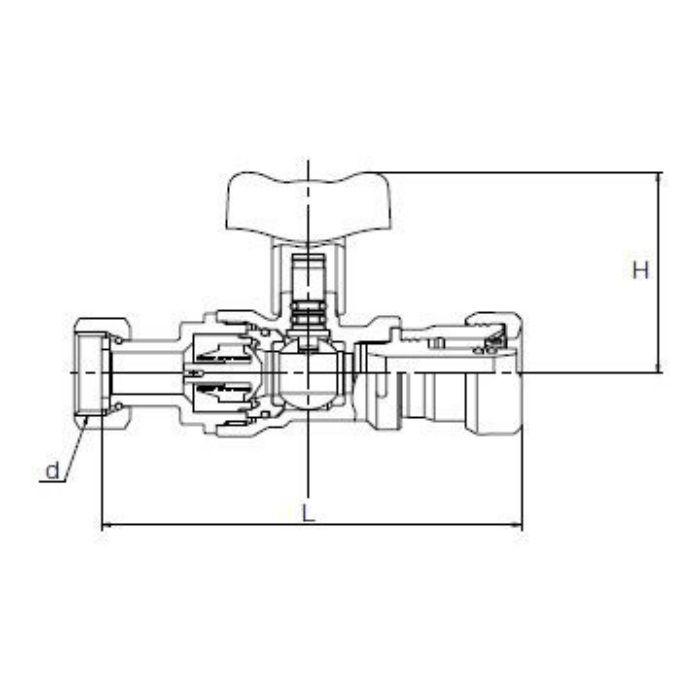 HS27-H6-Z20 クリアロック 逆流防止装置付ボール弁継手 20A