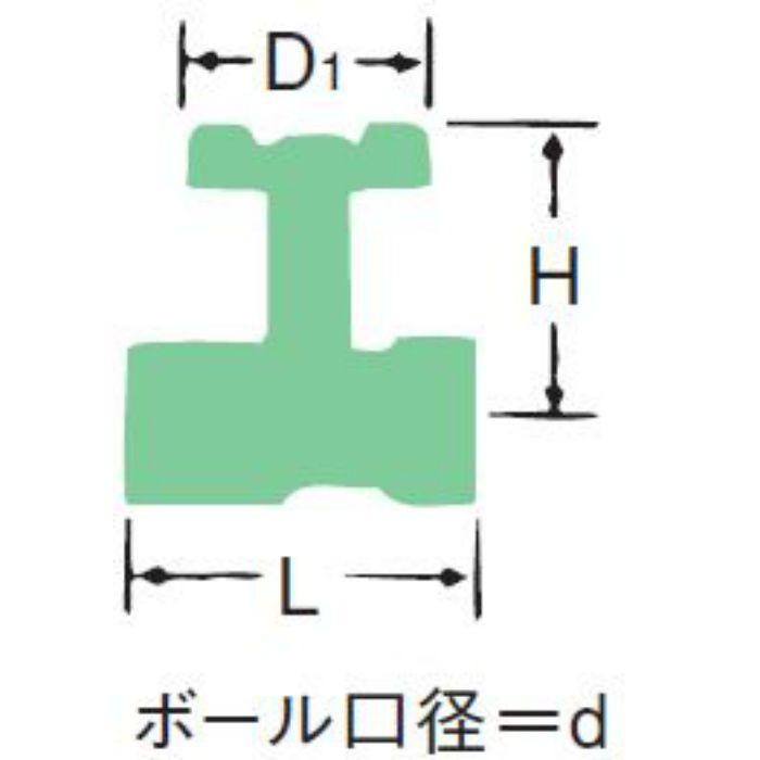B41 青銅10K機器付属用ボール弁【テーパめねじ×テーパめねじ】 25A
