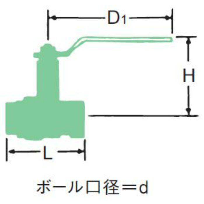 BOX-N 青銅フルボアボール弁【ロングネック】 40A