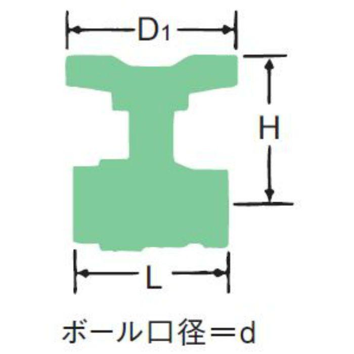 BOX-N-T 青銅フルボアボール弁【ロングネック・Tハンドル】 40A