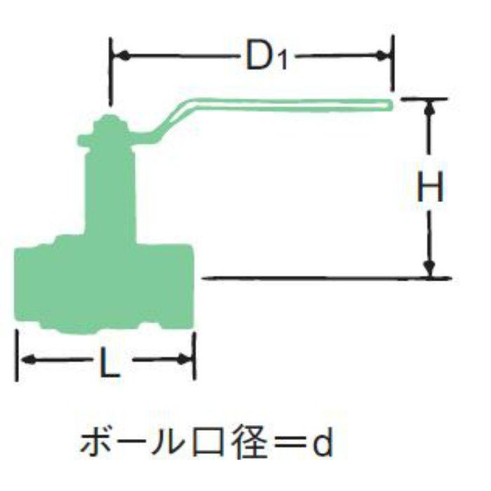 BX-N 青銅400ボール弁【ロングネック】 15A