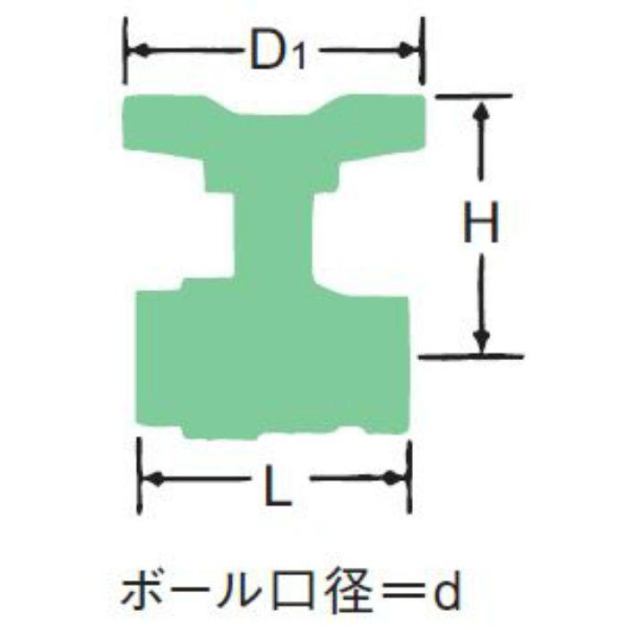 BX-N-T 青銅400ボール弁【ロングネック・Tハンドル】 40A