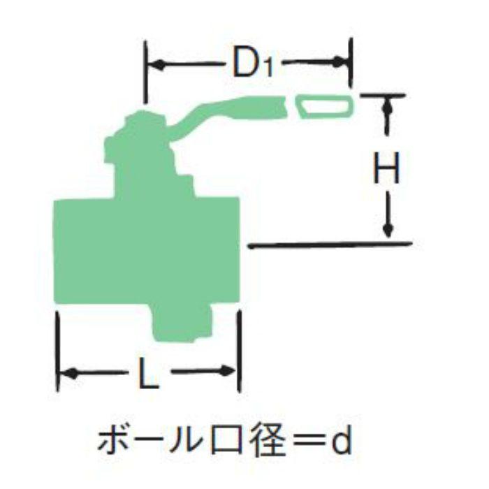 RB-3N 黄銅(C3771BE) 3方口ボール弁 40A