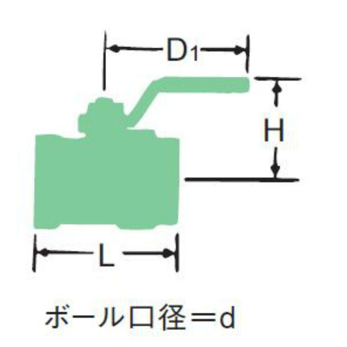 RB-S 黄銅スタンダードボア ボール弁【蒸気用】 40A