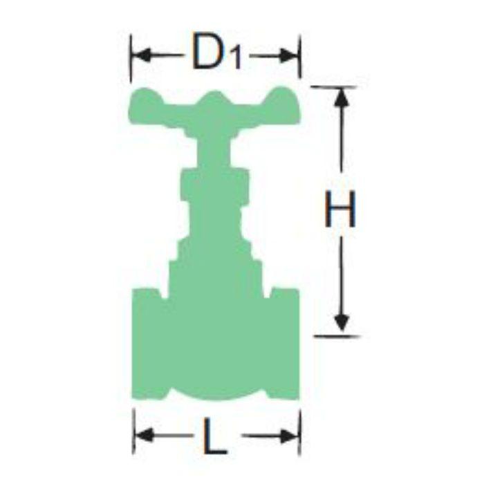 RH-N 黄銅125ゲート弁 65A