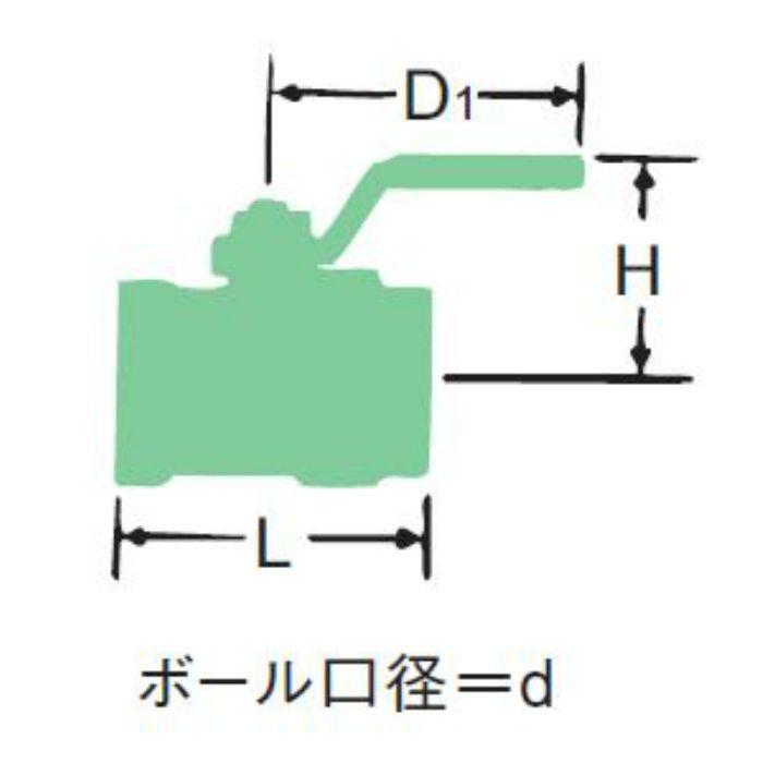 RZ-N 黄銅600ボール弁【バーストック】 25A
