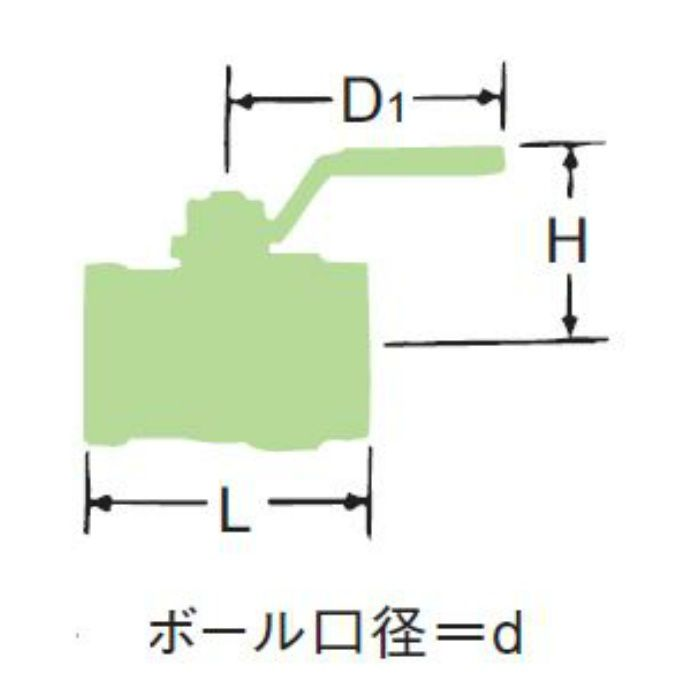 LBOV 無鉛くん青銅フルボアボール弁【水協品】 32A