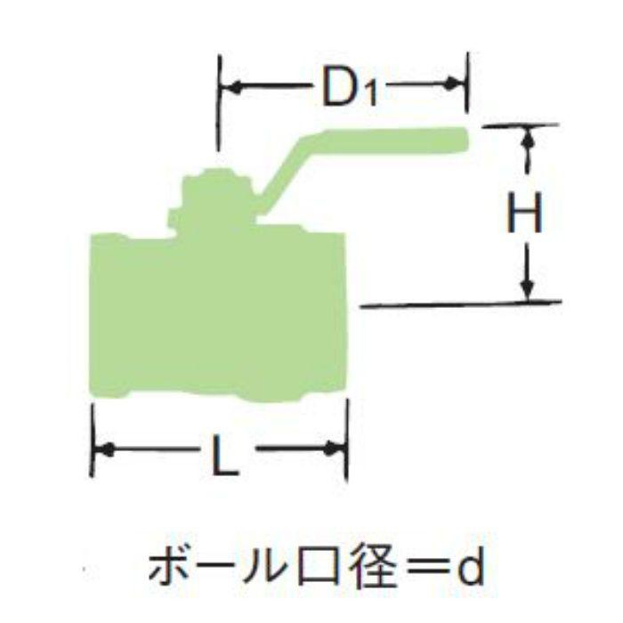 LBOX-N 無鉛くん青銅フルボアボール弁【ロングN・国交省・水協品】 40A