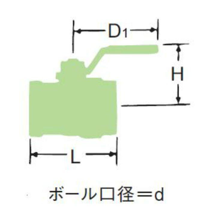LBX-N 無鉛くん青銅ボール弁【ロングネック・国交省適合品】 32A