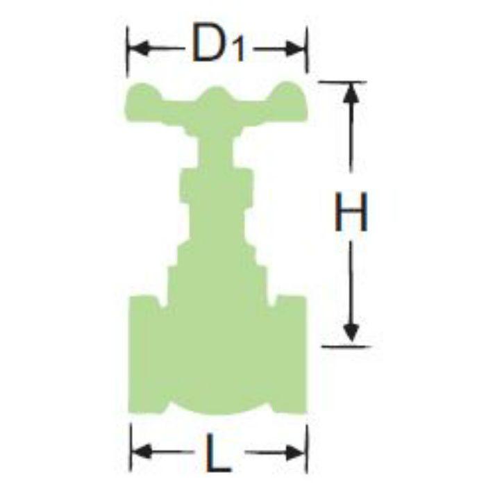 M125EBS-N 無鉛くん青銅ゲート弁【鉛溶出防止】 20A