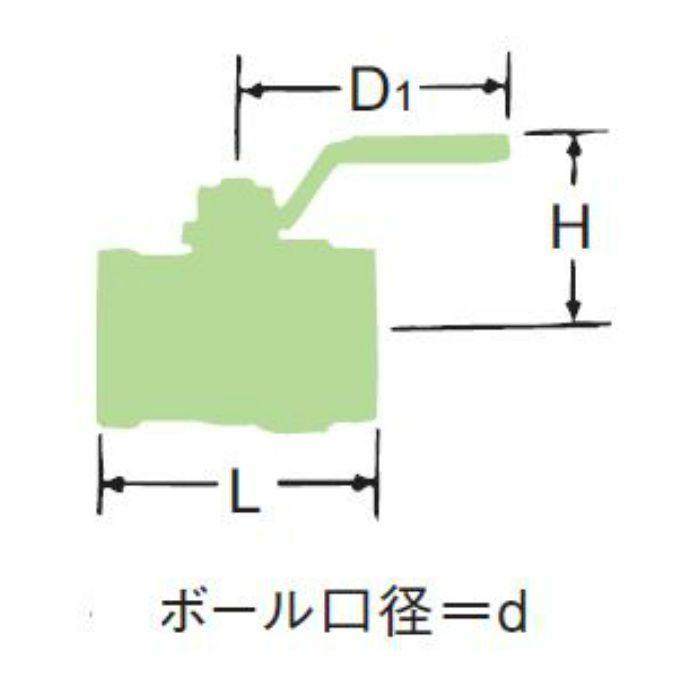 LBX-HN-N 無鉛くん青銅コアボール弁【ロングネック・給湯用】 15A
