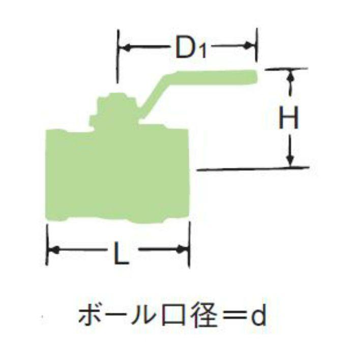 LBX-SK-N 無鉛くん青銅コアボール弁【水協品】 32A