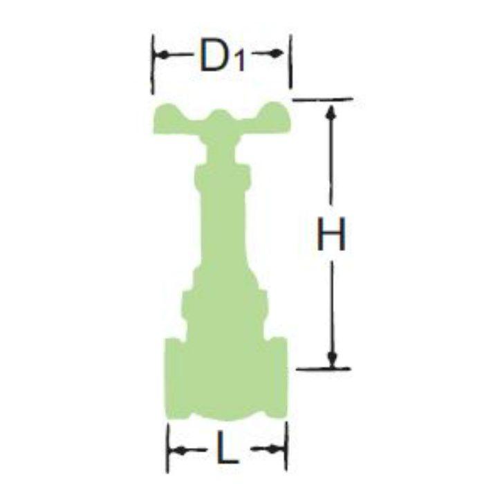 LJ10BSR-HN-N 無鉛くん青銅コアゲート弁【給湯用】 50A