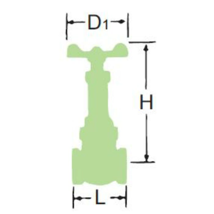 LJ5BSR-HN-N 無鉛くん青銅コアゲート弁【給湯用】 15A