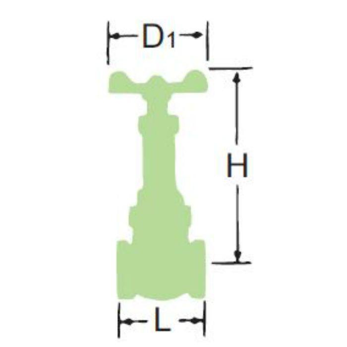 LJ5BSR-HN-N 無鉛くん青銅コアゲート弁【給湯用】 50A