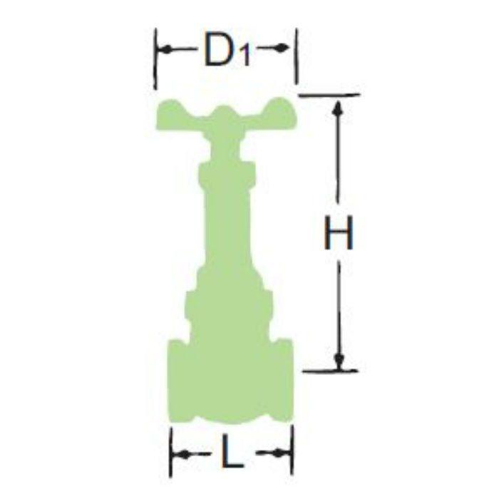LJ10N-BS-OR-SK-N 無鉛くん青銅コアゲート弁【埋設・水協品】 50A